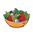 fresh salad with lettuce vector image
