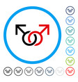 gay love symbol rounded icon vector image vector image