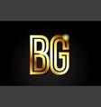gold alphabet letter bg b g logo combination icon
