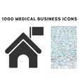 Government Building Icon with 1000 Medical vector image vector image