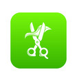 haircut icon green vector image