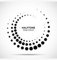 halftone circle dotted texture frame vector image vector image