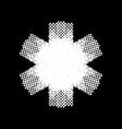 halftone snowflake shape vector image