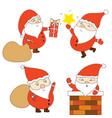 happy and cute santa claus graphic vector image