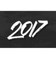 Happy New Year 2017 greetings on black chalkboard vector image vector image