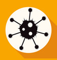 icon virus on white circle with a long shadow vector image vector image