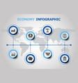 infographic design with economy icons vector image vector image