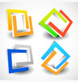 interlocking colorful u shapes generic icons vector image vector image