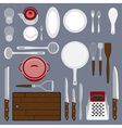 Kitchenware set vector image
