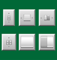 Light switch set vector image vector image