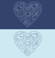 Marine objects in the shape of a heart vector image vector image