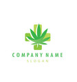 medical cannabis logotype vector image
