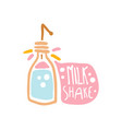 milk shake colorful logo template element for vector image vector image