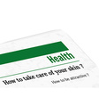 newspaper - health vector image vector image