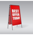 Pavement sign with the text Best offer today vector image vector image