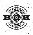 photography emblem label badge or logo vector image vector image
