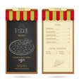 Pizza menu design vector image