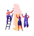 repair service professional worker for renovation vector image vector image