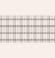 seamless black and white tartan pattern vector image vector image
