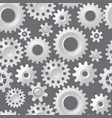 seamless gears 3d mechanical background vector image vector image