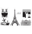 set landmarks paris vector image