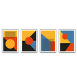 set minimalistic geometric art posters with vector image vector image