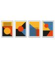 Set minimalistic geometric art posters with