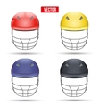 Set of Cricket Helmets Front View vector image vector image