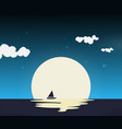 ship in night flat vector image vector image