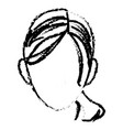 sketch head woman female face vector image vector image