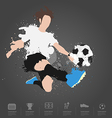 Soccer player kicks the ball vector image vector image