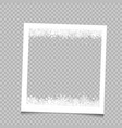 square frame christmas snow vector image