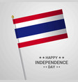 thailand independence day typographic design with vector image