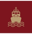 The ship icon Travel symbol Flat vector image vector image