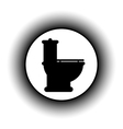 Toilet button vector image vector image