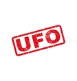 UFO Rubber Stamp vector image