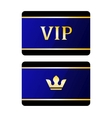 vip cards with crown vector image vector image