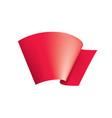 waving the red flag on a white background vector image vector image