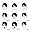woman face types on white background vector image vector image