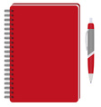 Notebook and ball pen vector image