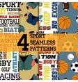 Sport patterns set vector image