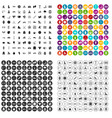 100 physical education icons set variant vector image vector image