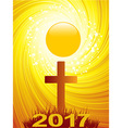 Abstract Cross and 2017 text background vector image vector image