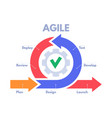 agile development process infographic software vector image vector image