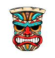 angry face mask from tiki island with the vector image