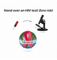 Assay for HIV A blood test for AIDS World AIDS vector image vector image