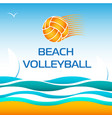 beach volleyball bright design element vector image