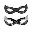 beautiful black lace masquerade mask isolated on vector image vector image