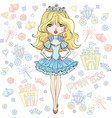 beautiful fashion girl princess vector image vector image