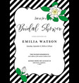 Bridal shower invitation card template with hand